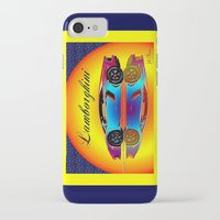 lamborghini iPhone & iPod Cases featuring Lamborghini Aventador by JT Digital Art