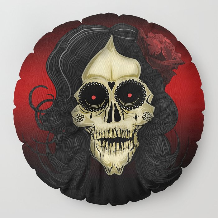 Day Of The Dead Floor Pillow