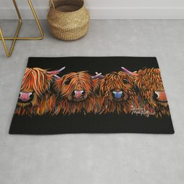 HiGHLaND CoW PRiNT SCoTTiSH ' THe GiNGeR NuTS ' BY SHiRLeY MacARTHuR Rug
