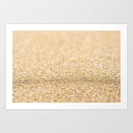 Beautiful champagne gold glitter sparkles Kunstdrucke