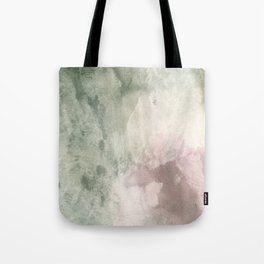 Abstract blush pink green white watercolor brushstrokes Tote Bag