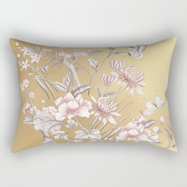 Chinoiserie Gold Rectangular Pillow