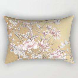 Chinoiserie Gold Rectangular Pillow