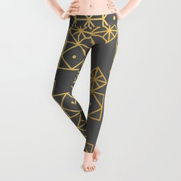 Geometric Gold Leggings