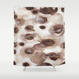 """""""Flowing Circles"""" - Karla Leigh Wood Shower Curtain"""