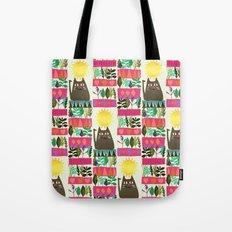 herb cat Tote Bag