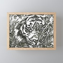 Pencil Asian Tiger Framed Mini Art Print