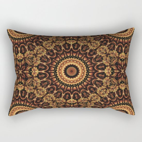 Autum Colors Mandala Rectangular Pillow