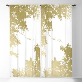 Night's Sky Gold Blackout Curtain
