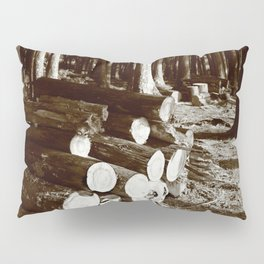 Stacked logs Pillow Sham