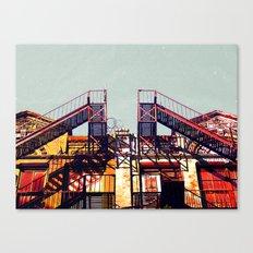 New York fire escapes Canvas Print