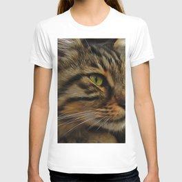Aslan The Long Haired Tabby Cat T-shirt