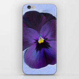 Ultra violet viola tricolor iPhone Skin