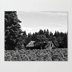 B&W Barn Canvas Print