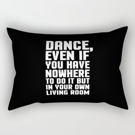 Dance Living Room Music Quote Rectangular Pillow