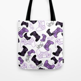 Video Games Lavender on White Tote Bag