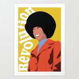 Angela Davis: Revolution Art Print