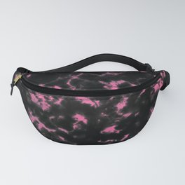 Black Marble with Pink Accents Fanny Pack