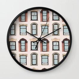 Upper West Side Windows Wall Clock