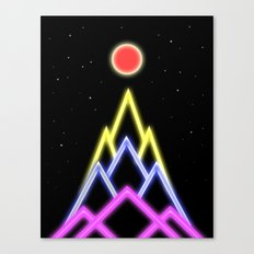 Neon Red Moon Canvas Print