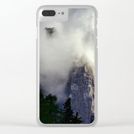 Mystical Mountains in Clouds, Landscape Nature Photography Clear iPhone Case