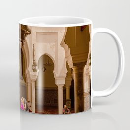 Moroccan Mosque Courtyard Beautiful Islamic Geometry Architecture Middle East Photography Coffee Mug