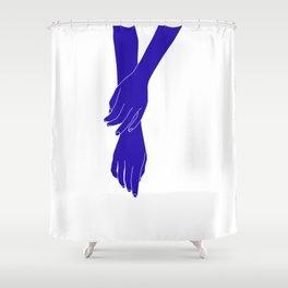 Colour block hands illustration - Effie Shower Curtain