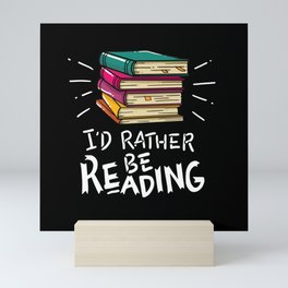 Book Worms - I'd rather be reading Mini Art Print