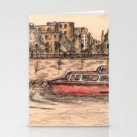 budapest Stationery Cards featuring Budapest Art by Daria Kotyk