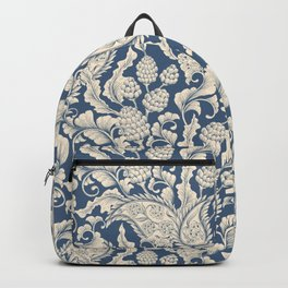 Vintage & Shabby Chic - William Morris Classic Blue Antique Floral Backpack