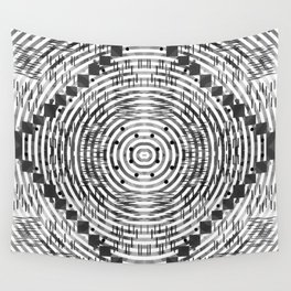 Pattern in black and white Wall Tapestry