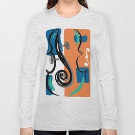 Scroll Pride - violin viola cello love - orange and teal Long Sleeve T-shirt