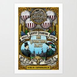 The 2015 Steampunk World's Fair Poster 1 Art Print