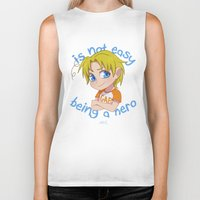 hetalia Biker Tanks featuring Baby Hero by Jackce