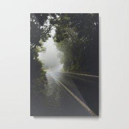 Foggy Road Metal Print