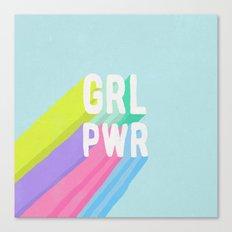 GRL PWR x Blue Canvas Print