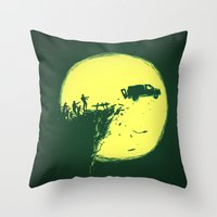 zombie Throw Pillows featuring Zombie Invasion by Picomodi