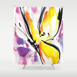 Butterfly Song No. 50 by Kathy Morton Stanion Shower Curtain