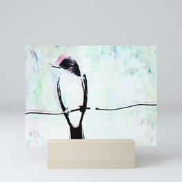 In Open Pasture's Kingbird Sings Mini Art Print