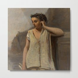 """Jean-Baptiste-Camille Corot """"The Muse - History"""" Metal Print"""