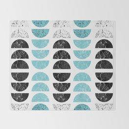 Marble Half-Moons in Tiffany Blue Throw Blanket