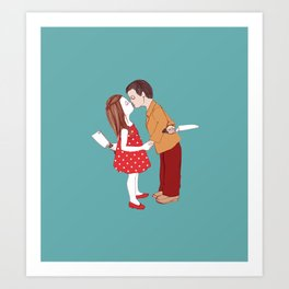 Kiss, Make Up Art Print