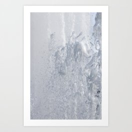 Splashing fountain Art Print