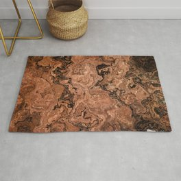 deep woods redwood marble Rug