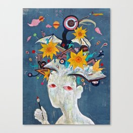 "Pearl Lee Original Painting ""Everything in the Kitchen Sink"" Canvas Print"