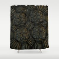 hydrangea Shower Curtains featuring Hydrangea by fracts - fractal art