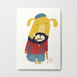 Rugged Roger - the lumberjack Metal Print
