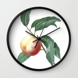 HIGHEST QUALITY botanical poster of Nectarine Wall Clock