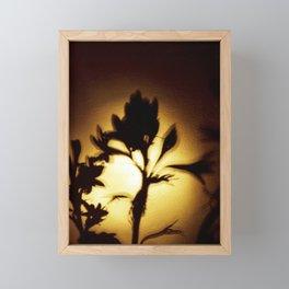 Yellow and Black Floral Shadow Art Print Framed Mini Art Print