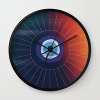 evil eye Wall Clocks featuring Evil Eye by DuckyB